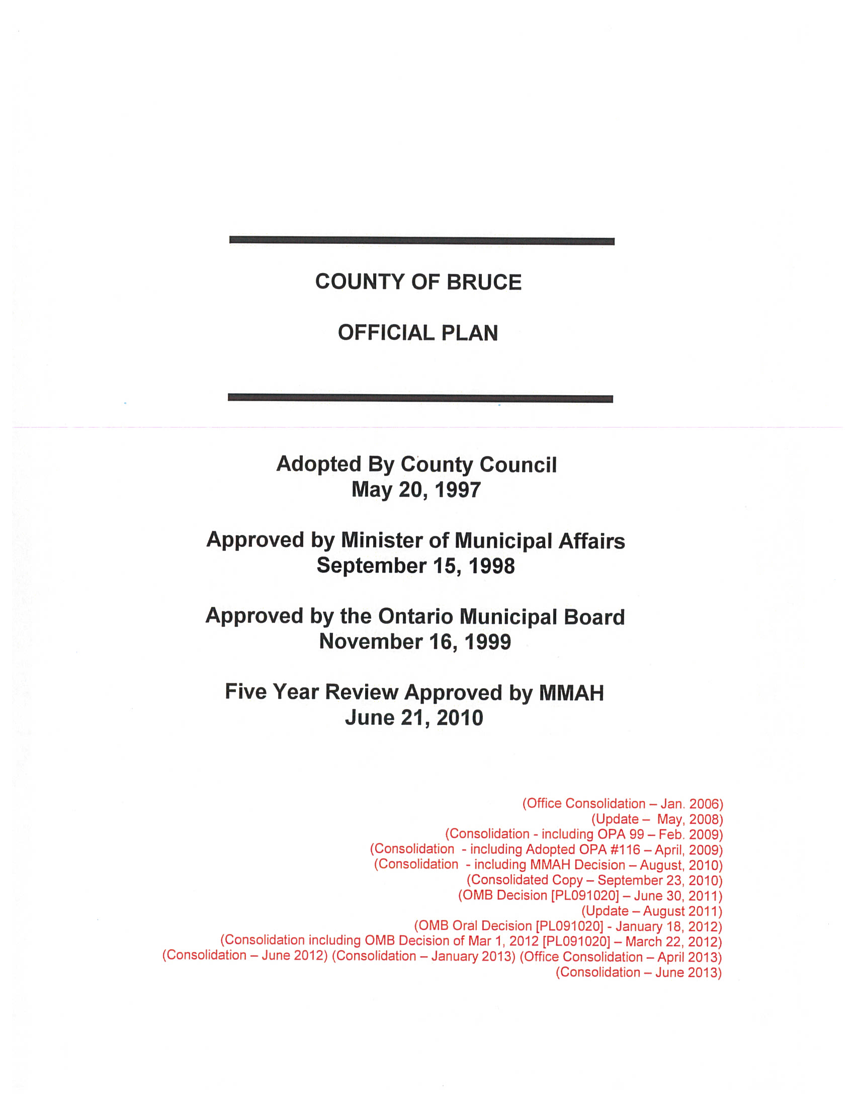 County of Bruce Official Plan