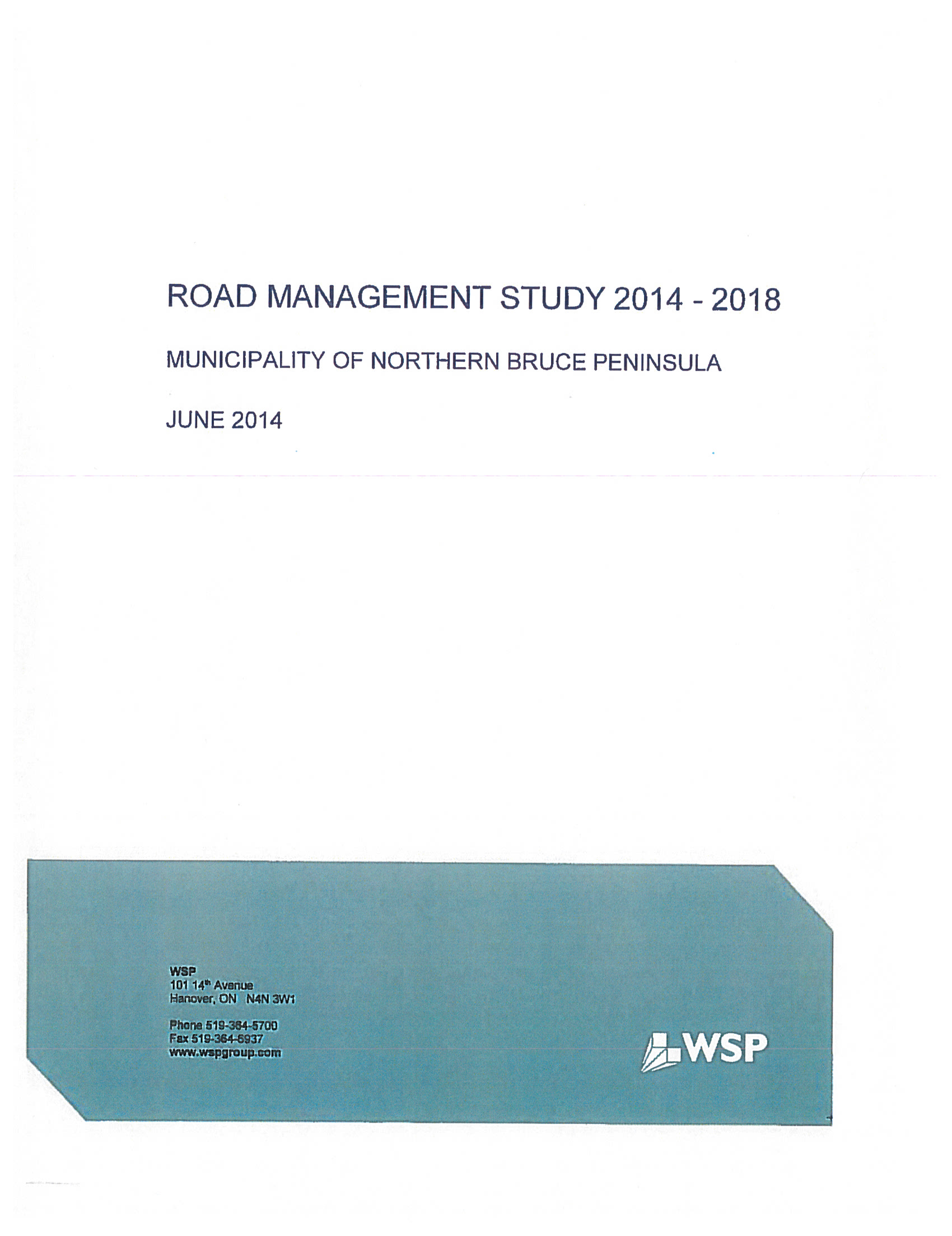 Road Management Study